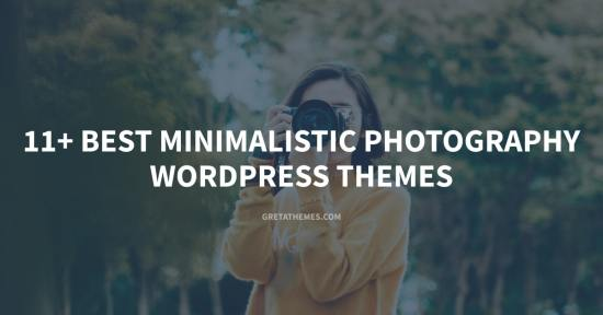 11+ Best Minimalistic Photography WordPress Themes