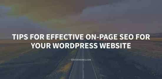 Tips for Effective On-Page SEO for Your WordPress Website