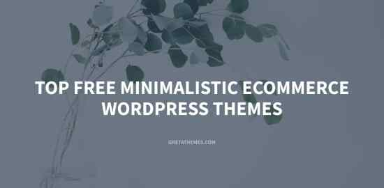 List of top free minimalistic eCommerce WordPress themes