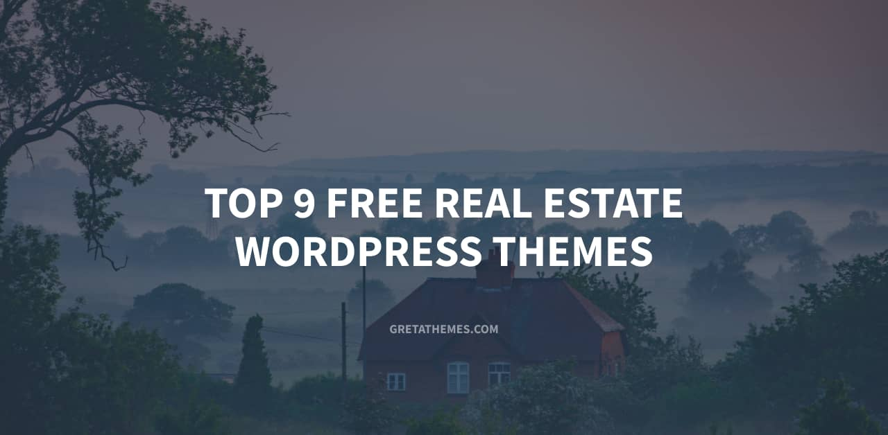Top 9 Free Real Estate WordPress Themes