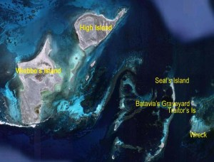 picture of map of Abrolhos islands