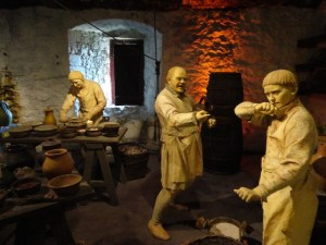 picture of people in kitchen at Stirling castle