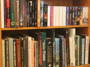 Picture of full book shelf
