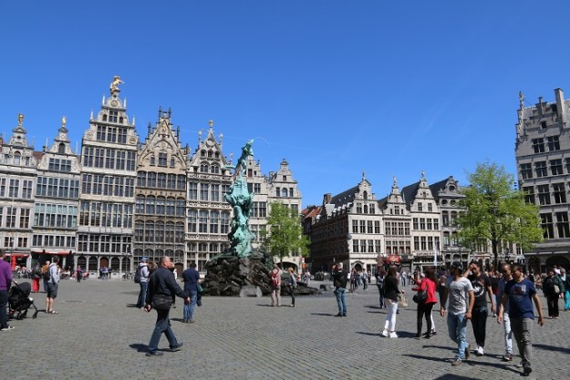 The main square at Antwerp