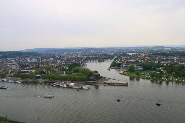 The Moselle and the Rhine from the cable car