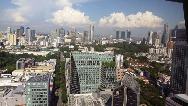 Singapore, looking along Orchard Road