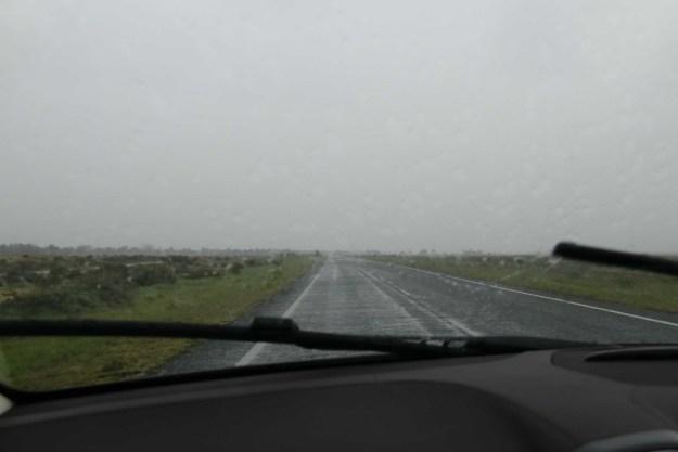It's raining on the plains