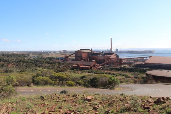 Whyalla's smelter is the colour of rust.