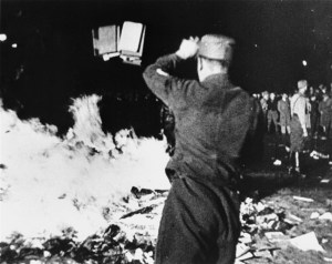Nazis burning books