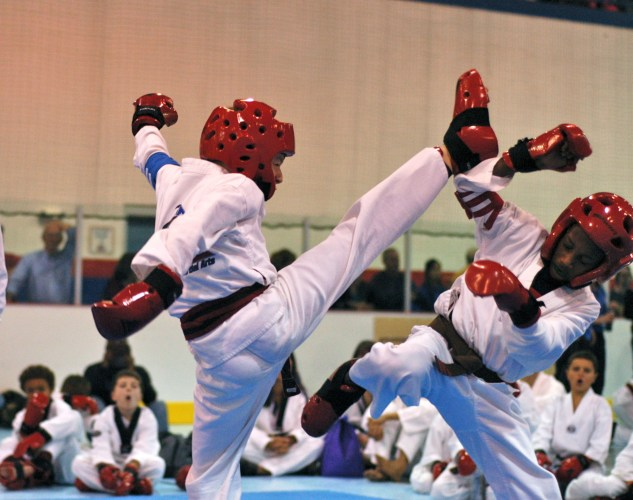 Our son winning the Tae Kwon Do State Championship in Point Sparring in 2014.