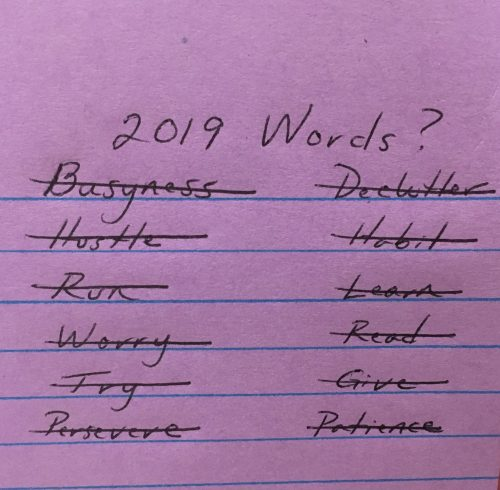What's Your Focus Word for 2019?