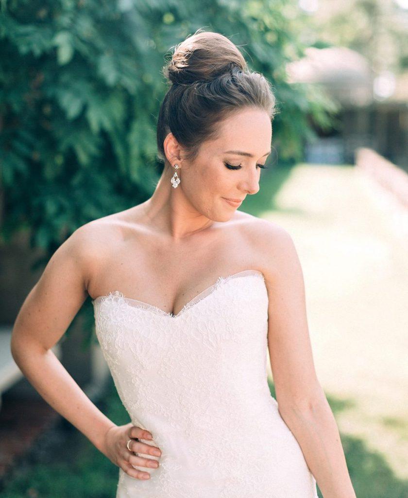 elegant updo wedding hair