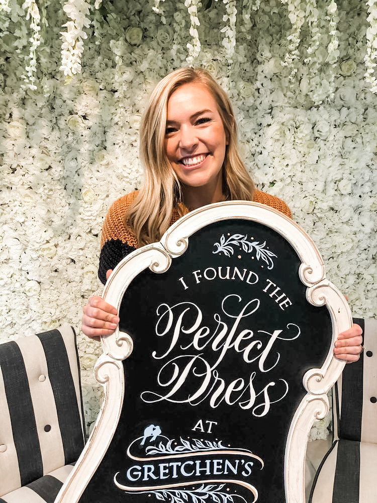 found the perfect dress at Gretchen's Bridal