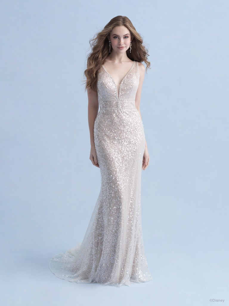 wedding gown inspired by Disney's Ariel