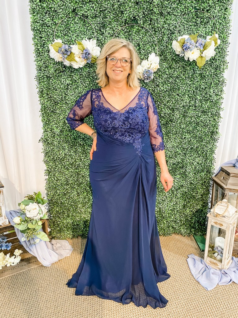 embroidered bodice mother of the bride gown