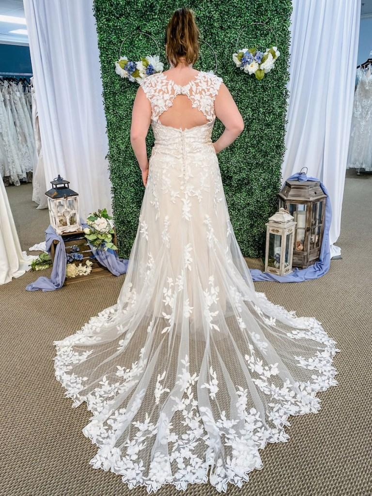 cutout Bridal Fall 2021 gown