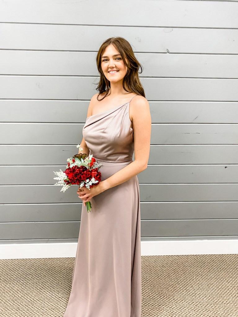 Fall Wedding Bridesmaid Dresses off the shoulder