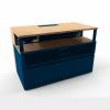 Geeko Industriel meuble TV 100 cm bleu