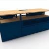 Geeko Industriel meuble TV 150 cm bleu