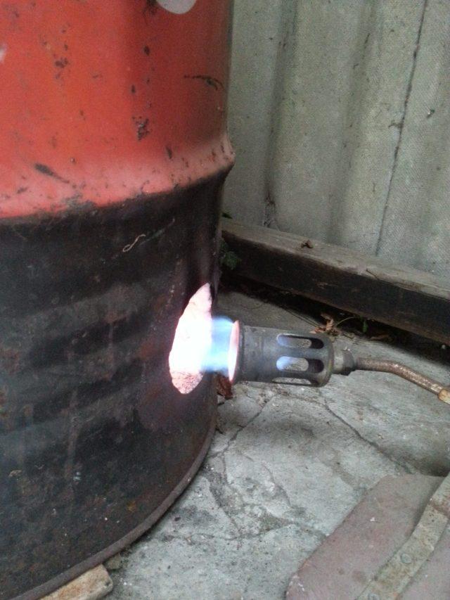 Raku Ovn Gas indgang