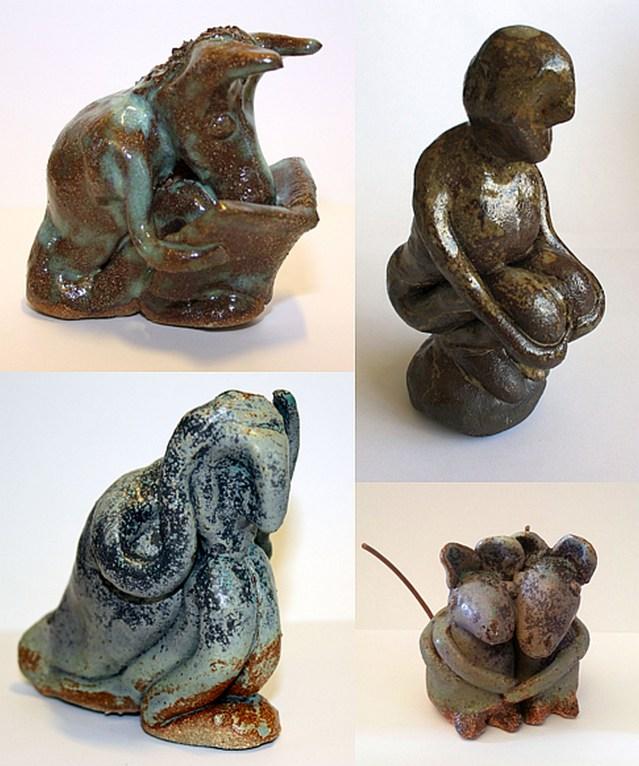 4 Keramiske værker af Stig Løvenkrands