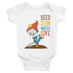 Grewwit Digging a Garden Infant short sleeve one-piece