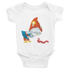 Grewwit Meets an Earthworm Infant short sleeve one-piece
