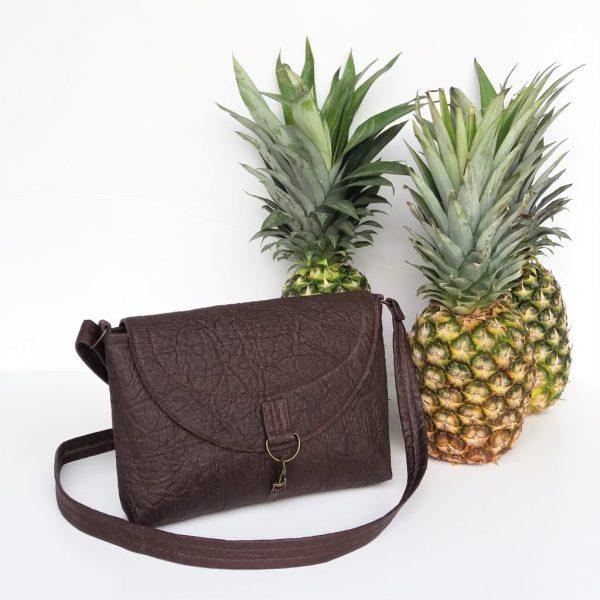 pinatex grey whale vegan handbag