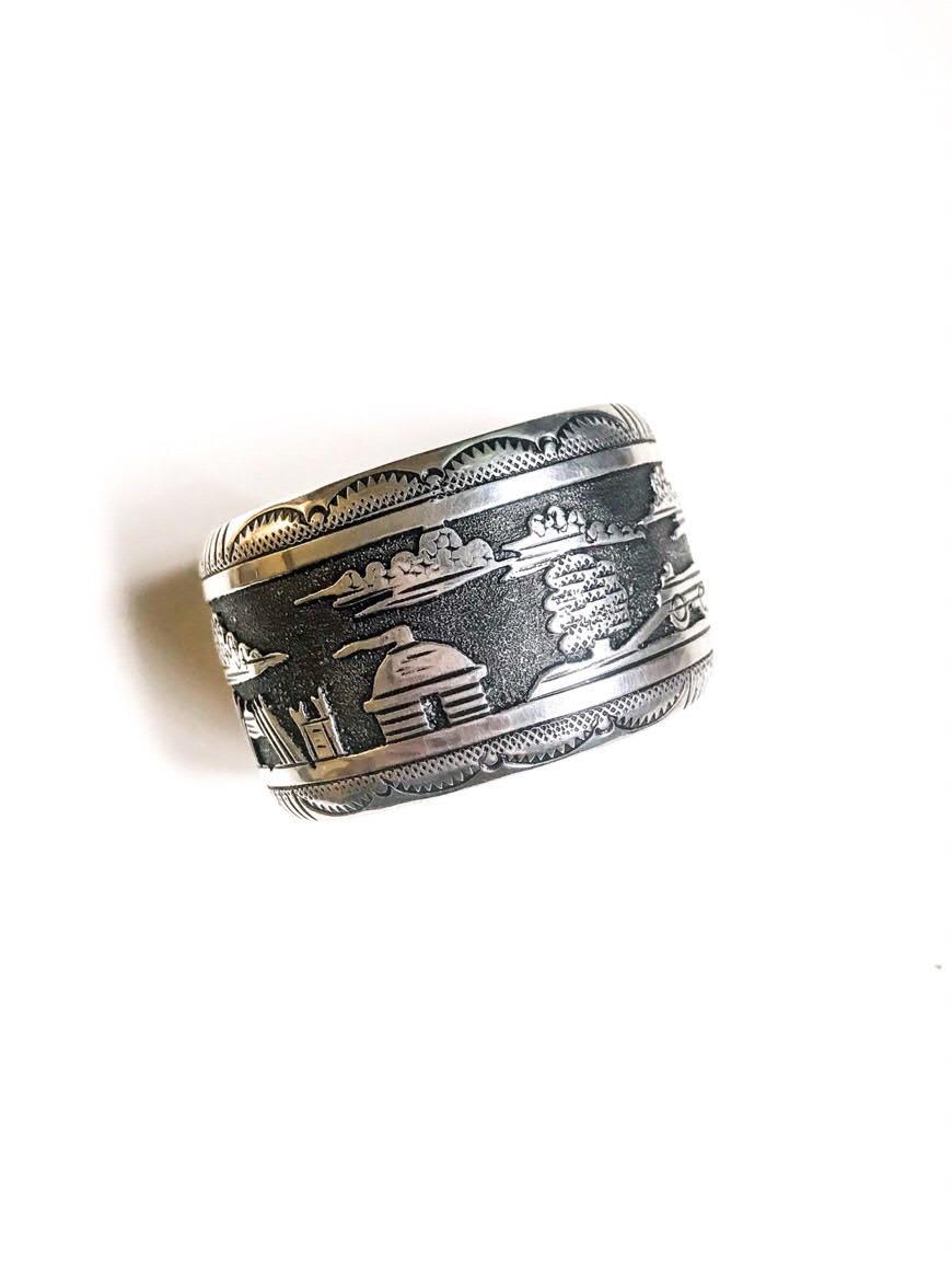 Silver Storyteller Bracelet By Rosita Singer Grey Arrow Trading