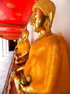 Row of seated Buddha