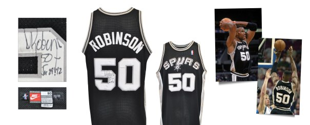 1999-2000 David Robinson San Antonio Spurs Game-Used & Autographed Road Jersey