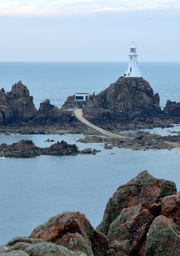 The Only Way to See La Corbiere Lighthouse, Jersey