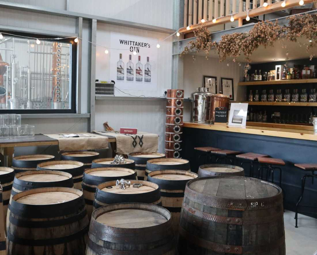 The well appointed gin shop - where to relax after the gin distillery tour