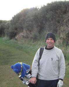 Charlie Thurston at Kingsbarns Golf Links in Scotland.