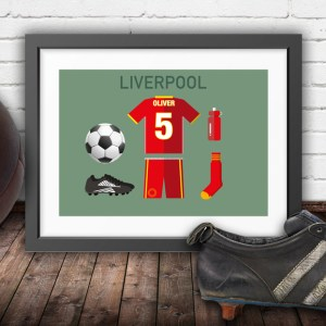 Personalised Liverpool vintage football kit