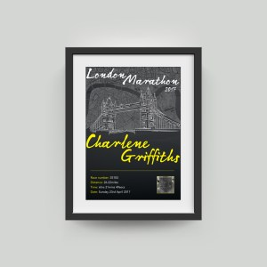 London Marathon Personalised Artwork