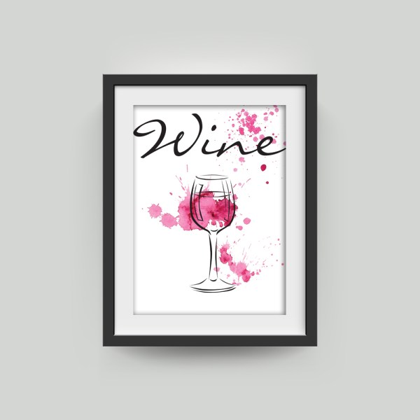 Wine Contemporary Framed Artwork