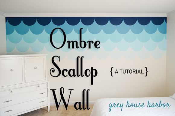 Ombre scallop wall a tutorial grey house harbor ombre scallop wall tutorial greyhouseharbor solutioingenieria Image collections