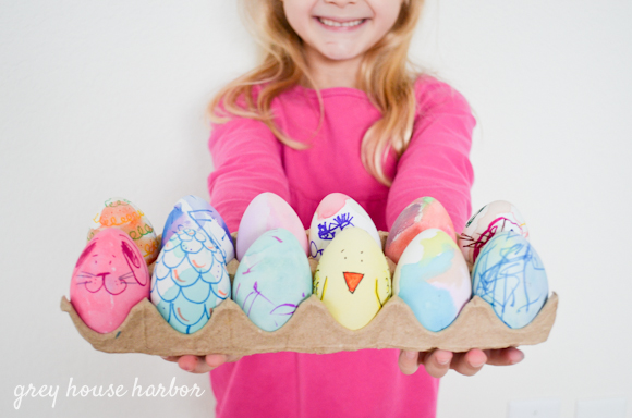 Painting Eggs  |  greyhouseharbor.com