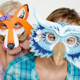 owl and fox cardboard masks - free templates!