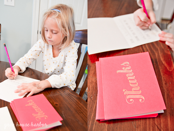 thank you cards for kids  |  greyhouseharbor.com