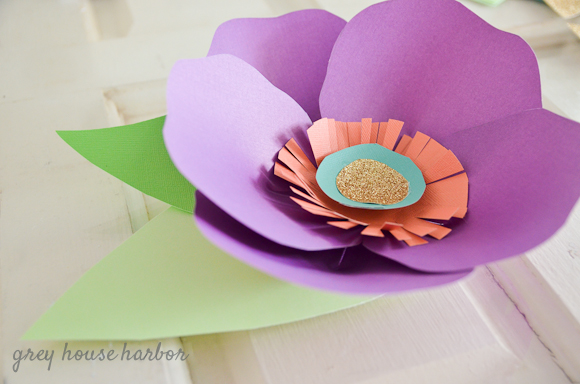 DIY Paper Flower   greyhouseharbor.com