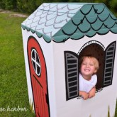 How to Build a Cardboard Box Playhouse greyhouseharbor.com