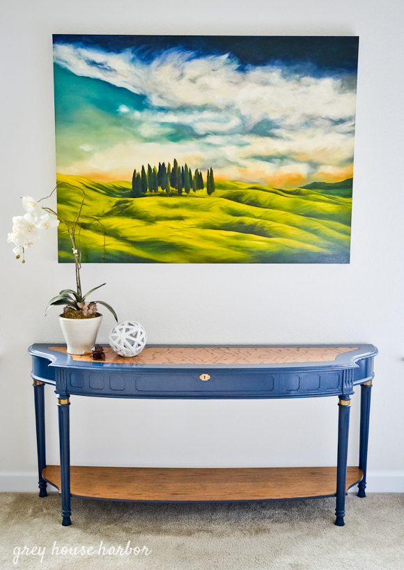 console table makeover  greyhouseharbor.com