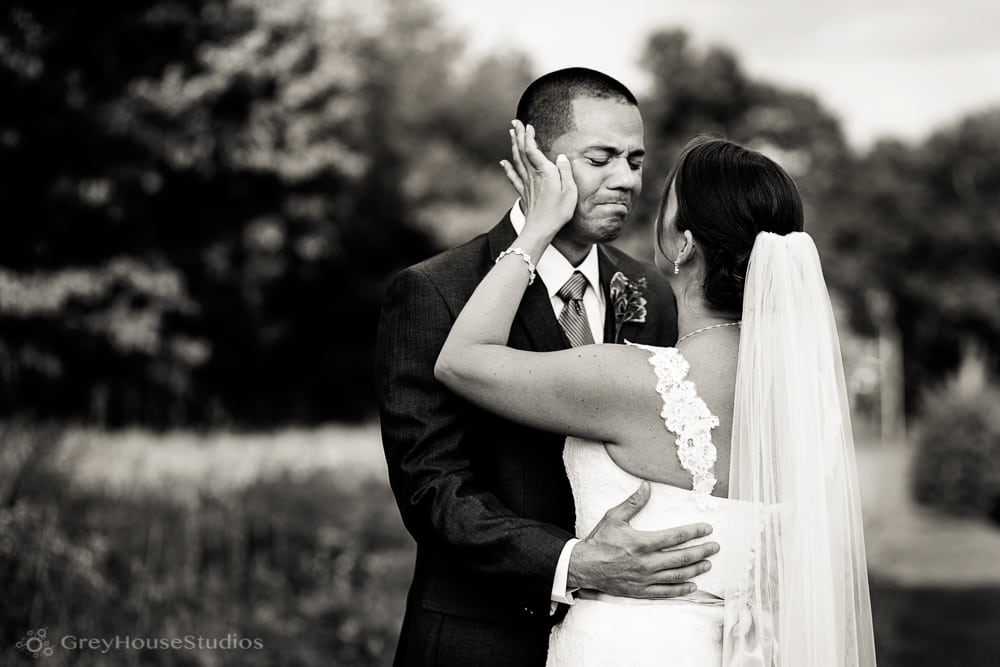 priam vineyards wedding photos bride with groom crying first look