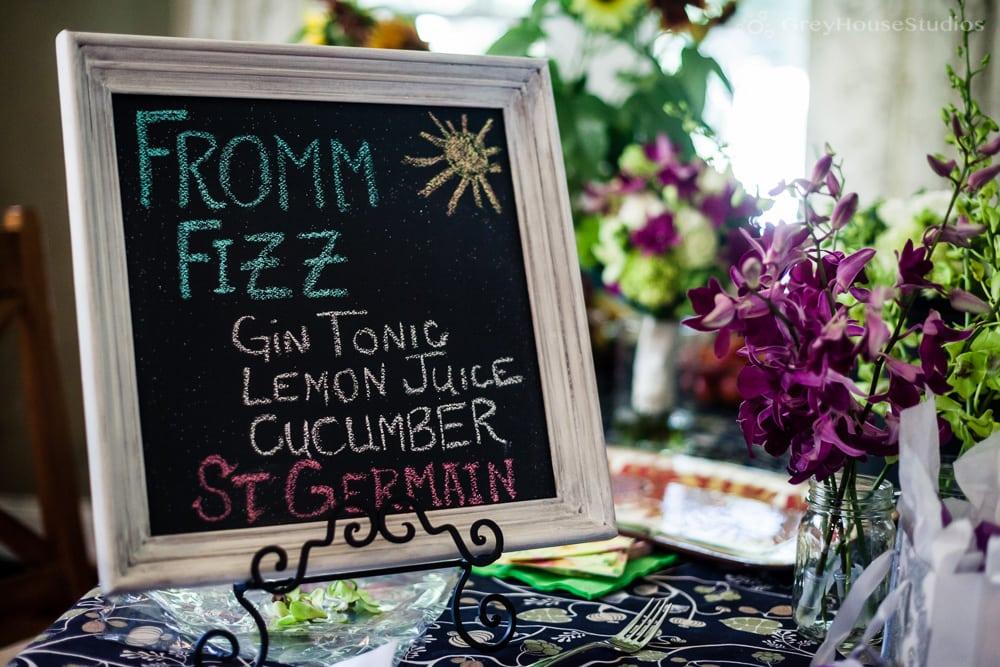 wedding day drink menu photo fromm fizz