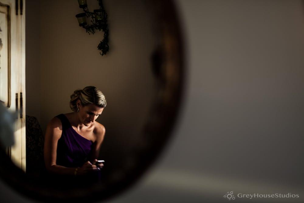 bridesmaid waiting before amarante's wedding ceremony new haven