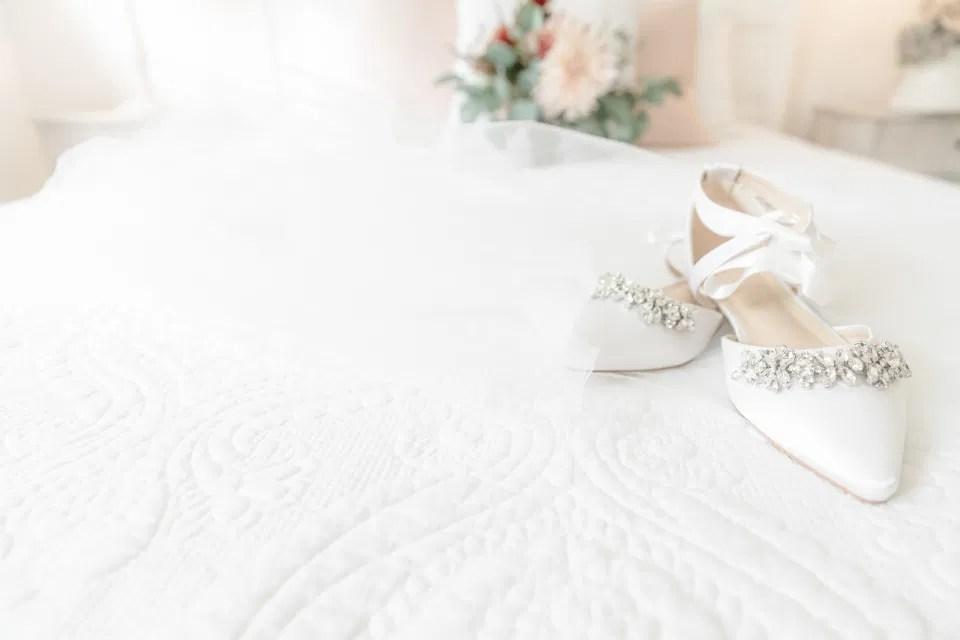 Wedding Shoes - Wedding Day Styling - Amy &. Nick | Le Belvedere at Wakefield in Quebec - Ottawa Wedding Venue - Grey Loft Studio
