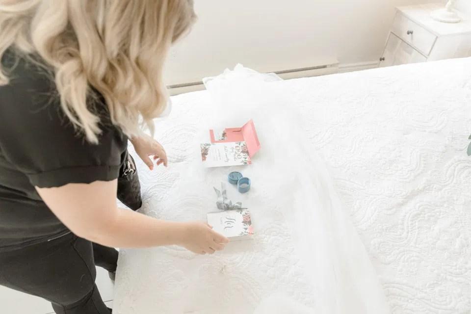 Photographer Bethany Barrette - Styling Details on Wedding Day - Grey Loft Studio -Amy &. Nick | Le Belvedere at Wakefield in Quebec - Ottawa Wedding Venue - Grey Loft Studio