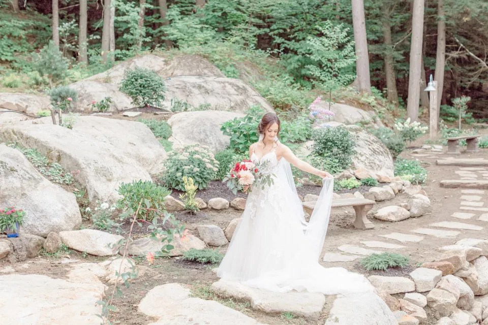 Bride Natural Posing - Garden House for Getting Ready - Amy &. Nick | Le Belvedere at Wakefield in Quebec - Ottawa Wedding Venue - Grey Loft Studio